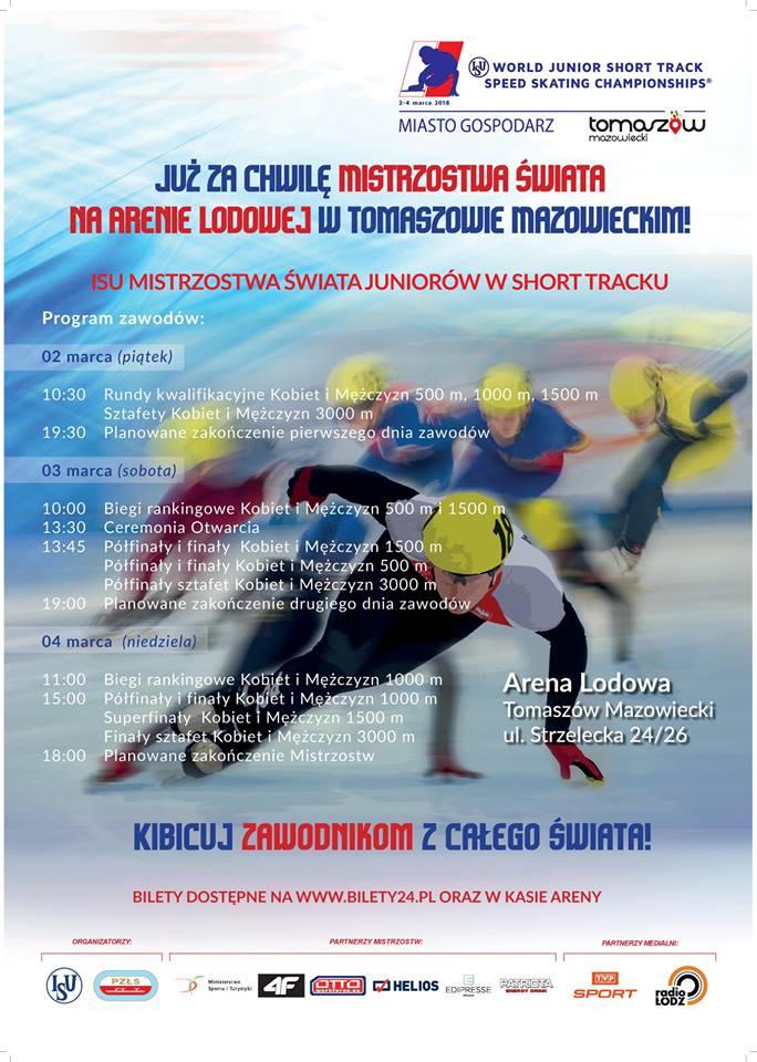 Mistrzostwa Świata w Short Tracku w Arenie Lodowej