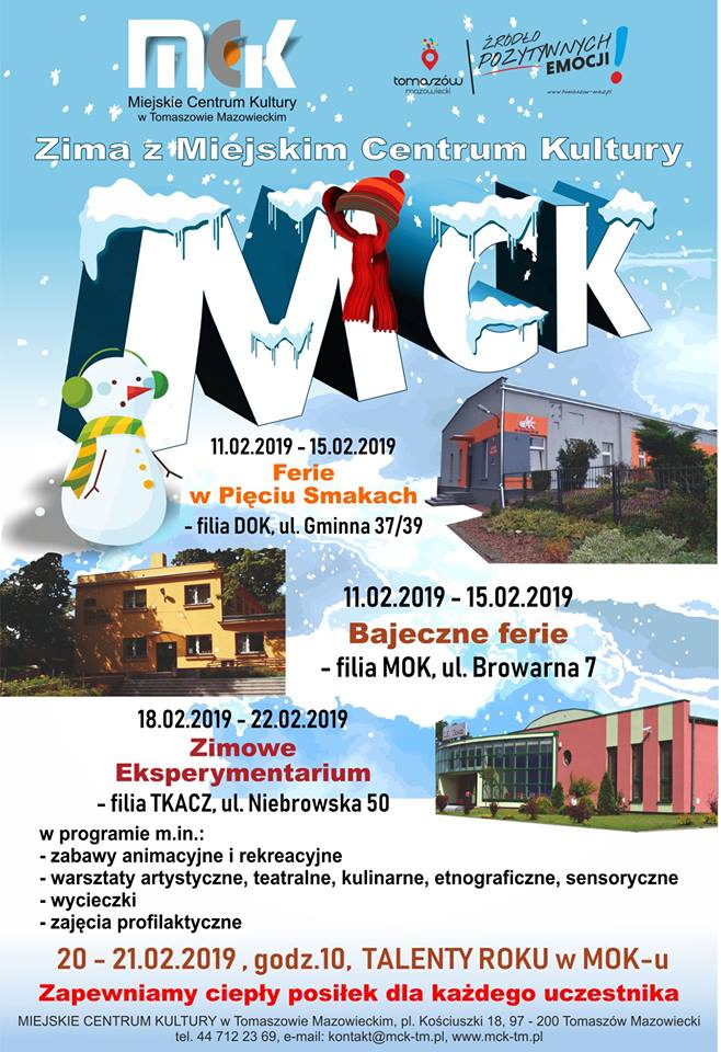 Zima z Miejskim Centrum Kultury - Bajeczne ferie - filia  MOK