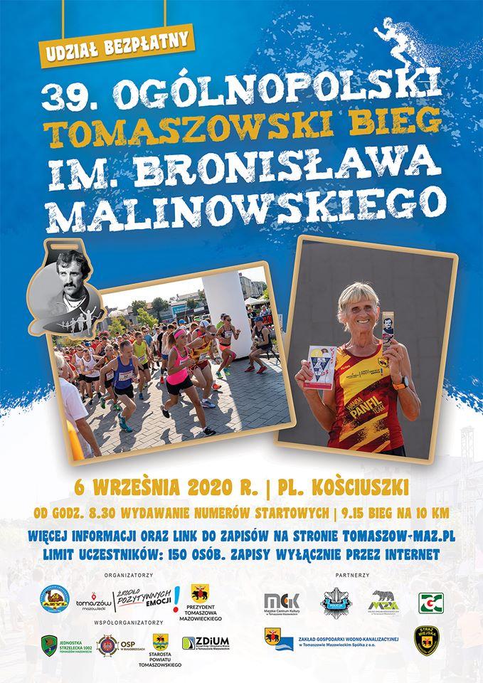 39. Ogólnopolski Tomaszowski Bieg im. Bronisława Malinowskiego
