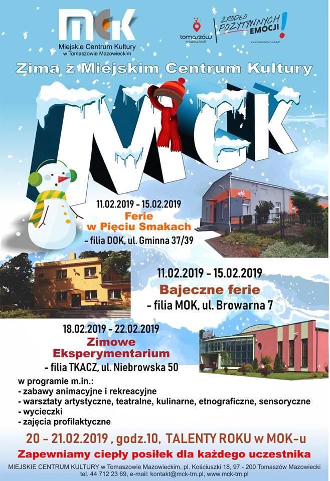 Zima z Miejskim Centrum Kultury - Zimowe Eksperymentarium - filia TKACZ