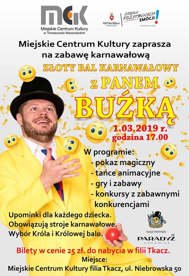 Złoty Bal Karnawałowy z Panem Buźką