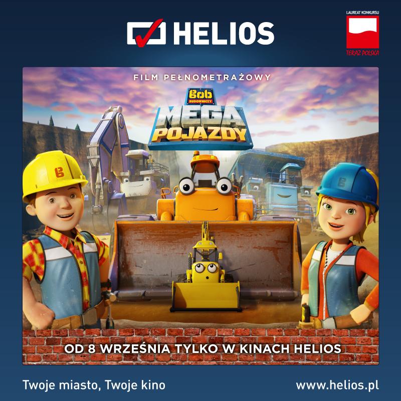 Bob Budowniczy: Mega Pojazdy 10 września kino Helios