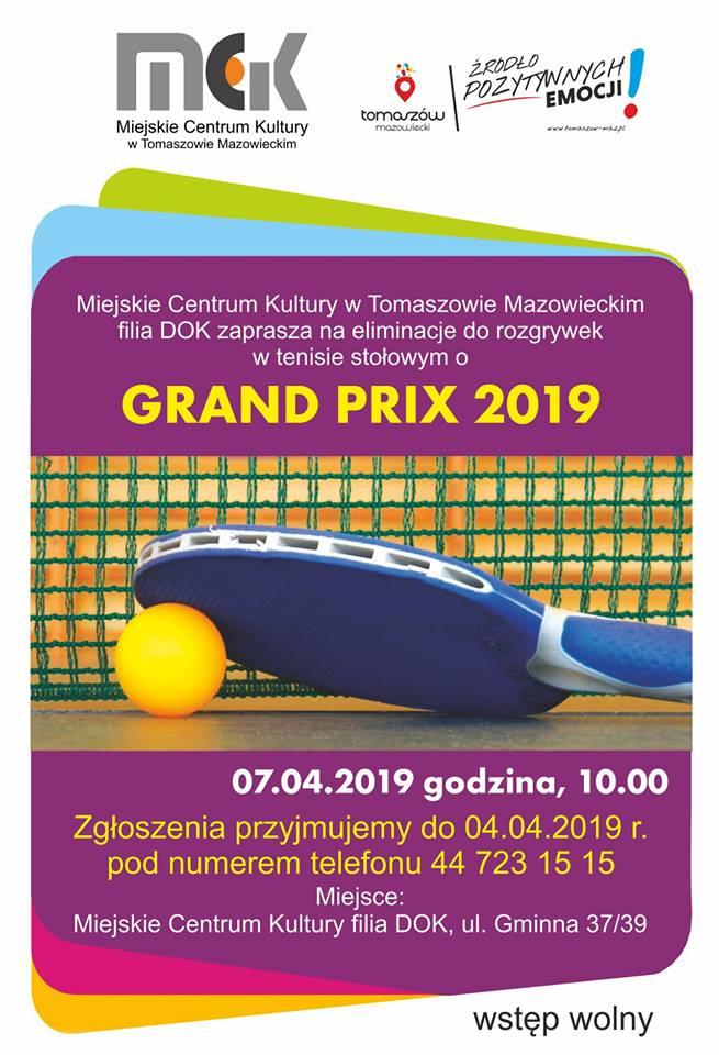 Eliminacje do rozgrywek w tenisie stołowym o Grand Prix 2019